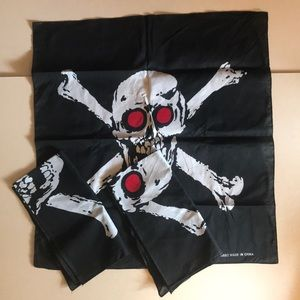 Skull and crossbones bandanas